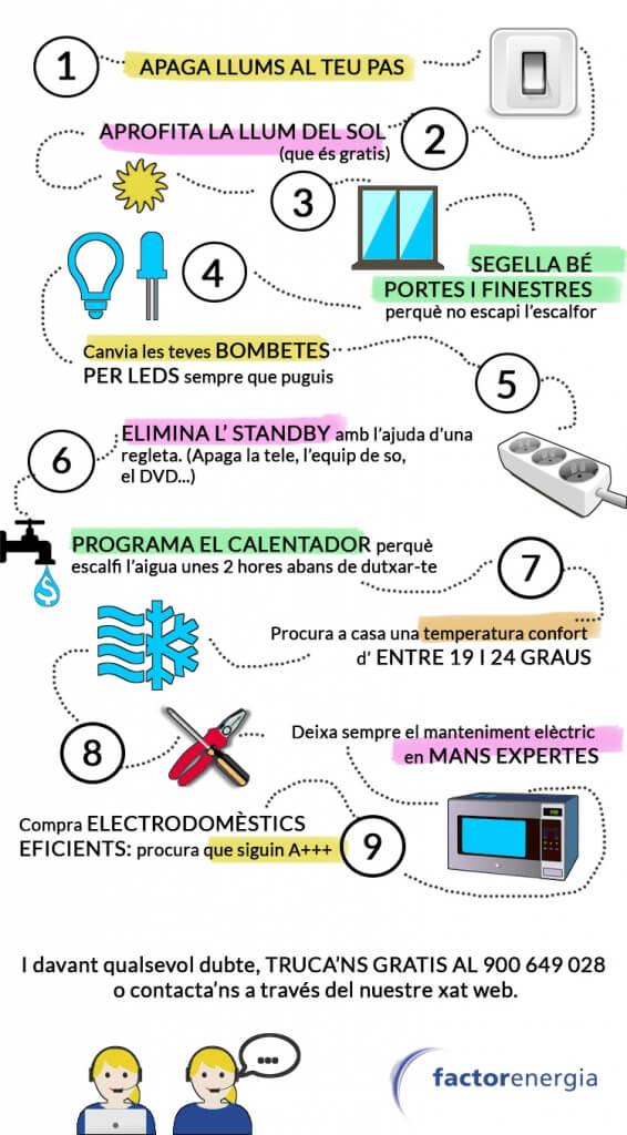 estalviar electricitat