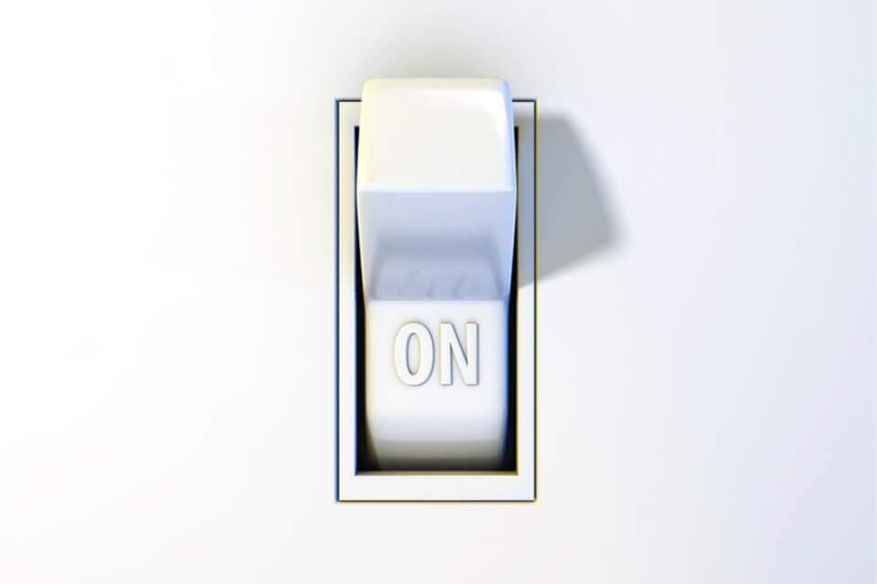 Ahorrar energía interruptor luz