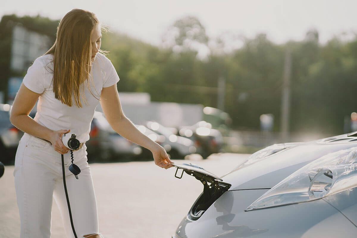 punto de recarga para coche eléctrico
